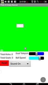 Flick Space Soccer screenshot 1