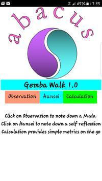 Lean Gemba Walk poster