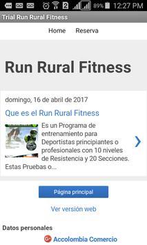 Run Rural Fitness -Sendero Fit poster