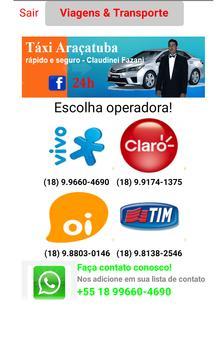 Taxi Araçatuba apk screenshot
