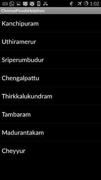 Chennai Flood Helplines apk screenshot