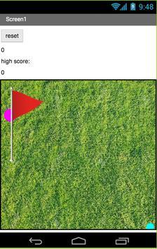 Golf score poster