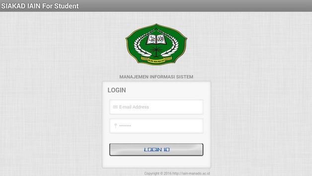 SIAKAD IAIN Manado For Student apk screenshot