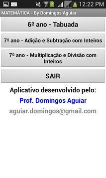 Matemática por Domingos Aguiar poster