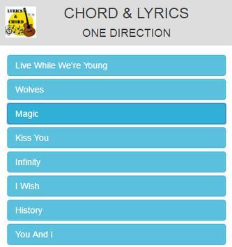 Chord and Lyrics One Direction apk screenshot