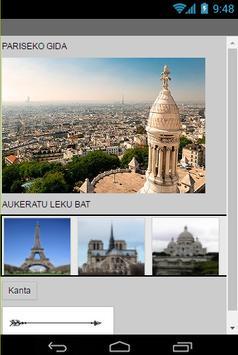 Pariseko gida poster