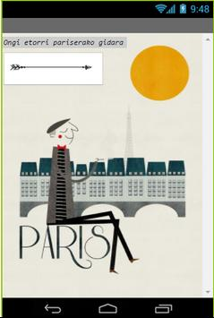Pariseko gida apk screenshot