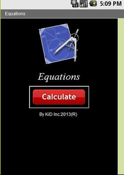 Equations apk screenshot