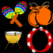 percussion musical instruments icon