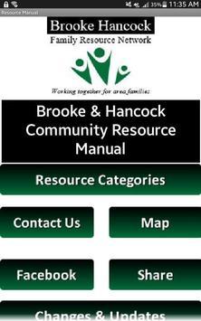Brooke Hancock Resource Manual poster