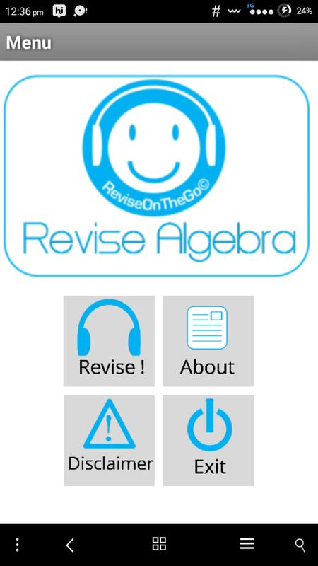 Revise Algebra SSC 2.0 Free APK Download - Free Education APP for ...