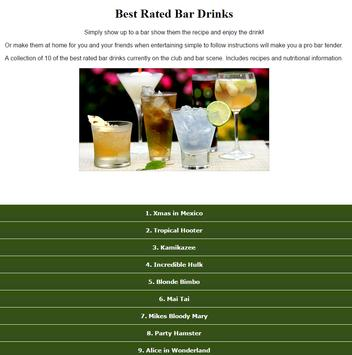 Best Rated Bar Drinks Recipes screenshot 1