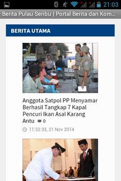 Berita Pulau Seribu apk screenshot