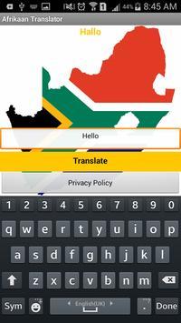 Afrikaan Translator apk screenshot