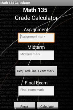 UW Grade Calculator apk screenshot