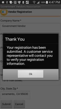 Vendor Registration apk screenshot