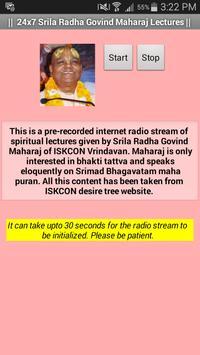 Radha Govind Maharaj Lectures poster