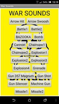 War sounds poster