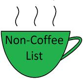 non-coffee menu from starbucks icon