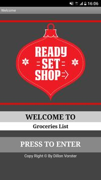 Groceries Shopping List poster