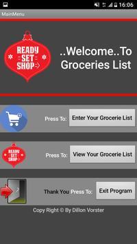 Groceries Shopping List screenshot 1