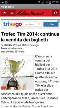 Milan News screenshot 1