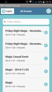 MTG Easy Pairings screenshot 1