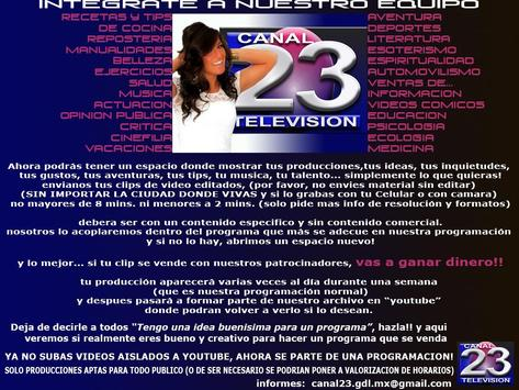 Canal 23 Gdl poster