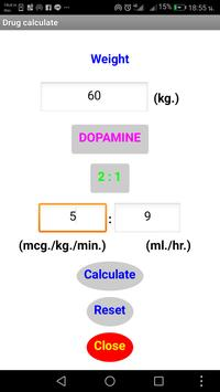 Drug calculate for nurse screenshot 1