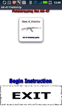 AK-47 Fieldstrip Guide poster