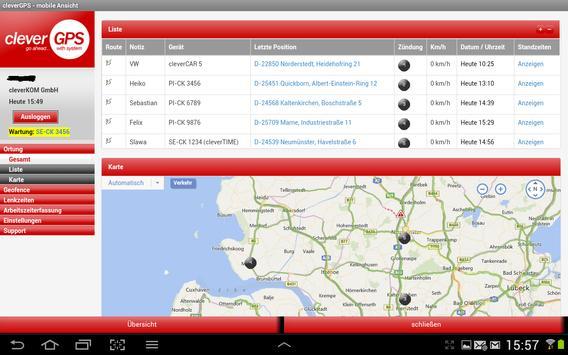 cleverGPS APP - Fahrzeugortung screenshot 9