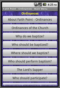 Faith Point Ordinances poster