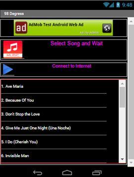 98 DEGRESS All Song screenshot 2