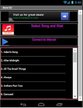 BLINK 182 All Song poster
