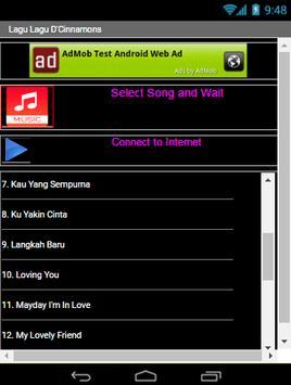 Lagu D'cinamons Lengkap screenshot 1