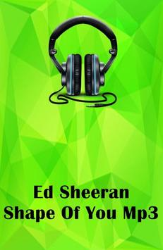 Ed Sheeran Shape Of You Mp3 पोस्टर