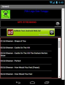 Ed Sheeran Shape Of You Mp3 apk स्क्रीनशॉट
