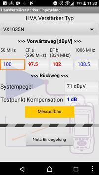 Einpegelung in UPC Netzen screenshot 1