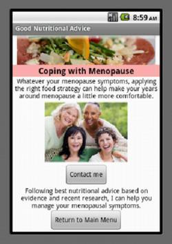 Good Nutritional Advice apk screenshot