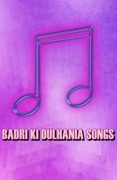 BADRI KI DULHANIA Songs poster