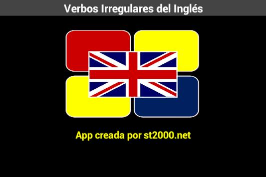 Verbos Irregulares Inglés apk screenshot