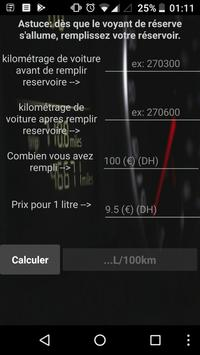 Voiture consommation L/100km poster