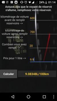 Voiture consommation L/100km screenshot 2