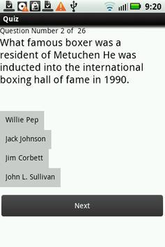 Metuchen Trivia Quiz apk screenshot