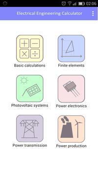Electrical engineering calculator screenshot 1