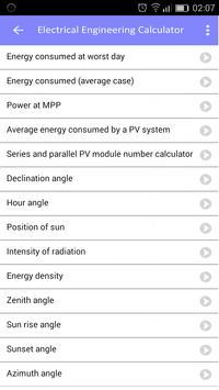 Electrical engineering calculator screenshot 4