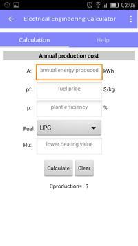 Electrical engineering calculator screenshot 5
