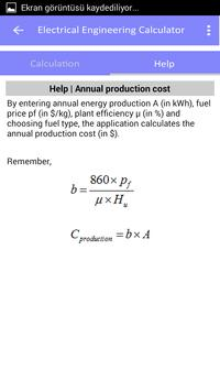 Electrical engineering calculator PRO apk screenshot