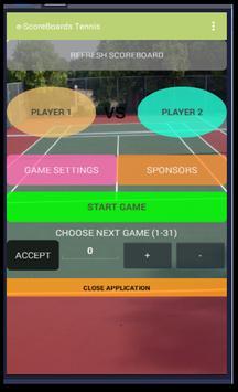 Tennis Scoreboard poster