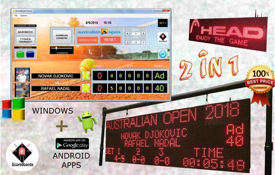 Tennis Scoreboard screenshot 1